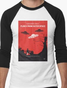 No518 My Plan 9 From Outer Space minimal movie poster Men's Baseball ¾ T-Shirt