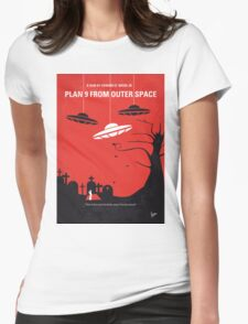 No518 My Plan 9 From Outer Space minimal movie poster Womens Fitted T-Shirt