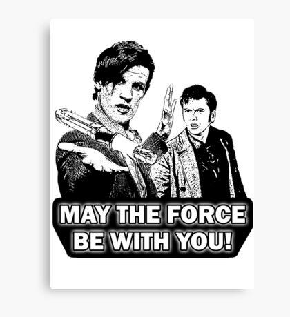 Use the Force, Doctor Jedi (Cartoon) Canvas Print