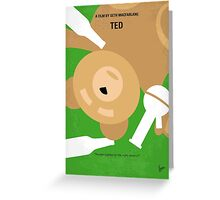 No519 My TED minimal movie poster Greeting Card