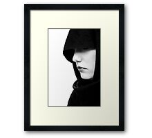 Gothic woman mouth  Framed Print