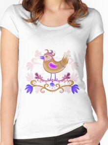 Brown Bird Women's Fitted Scoop T-Shirt