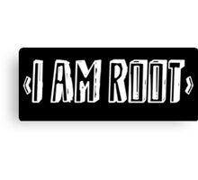 Computer qutoe: I am root Canvas Print