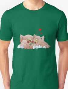 pigs in love Unisex T-Shirt