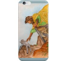 Jesus Rescues the Lost Sheep iPhone Case/Skin