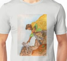 Jesus Rescues the Lost Sheep Unisex T-Shirt