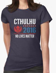 Cthulhu 2016 no lives matter Womens Fitted T-Shirt