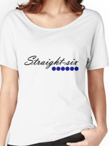 Straight 6 blue Women's Relaxed Fit T-Shirt