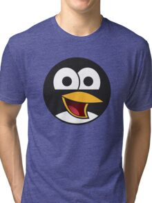 Angry tux Tri-blend T-Shirt
