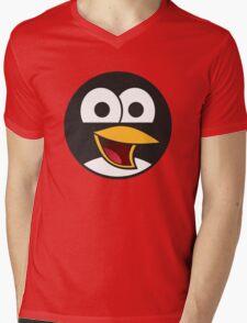 Angry tux Mens V-Neck T-Shirt