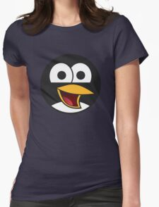 Angry tux Womens Fitted T-Shirt