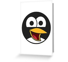 Angry tux Greeting Card
