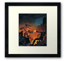 Doom II 1994 textless Poster PC Framed Print
