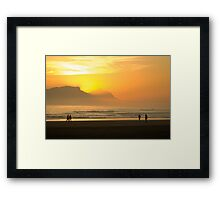 Through the mountain Framed Print