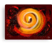 Sun Burst in the galaxy Canvas Print