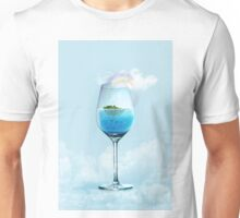 tropical island and underwater world in the glass  Unisex T-Shirt