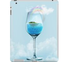tropical island and underwater world in the glass  iPad Case/Skin