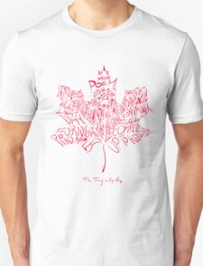 THE TRAGICALLY HIP - typography edition red summer tour 2016  Unisex T-Shirt
