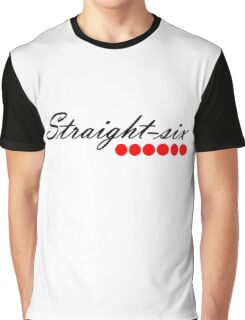 Straight 6 red Graphic T-Shirt