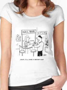 What to drink at a Nail-Bar Women's Fitted Scoop T-Shirt