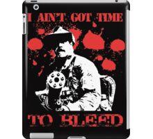 Predator I Aint Got Time To Bleed (Black) iPad Case/Skin