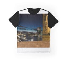 Thames in night Graphic T-Shirt