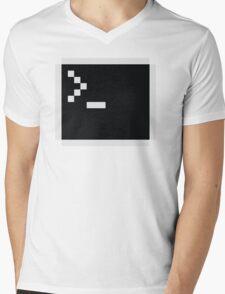 Linux command prompt Mens V-Neck T-Shirt