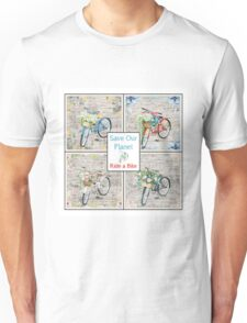 Bicycles Help Save Our Planet Unisex T-Shirt
