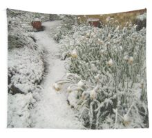 DAFFODILS IN SNOW Wall Tapestry