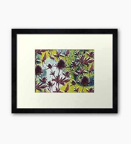 Textured Thistle Framed Print