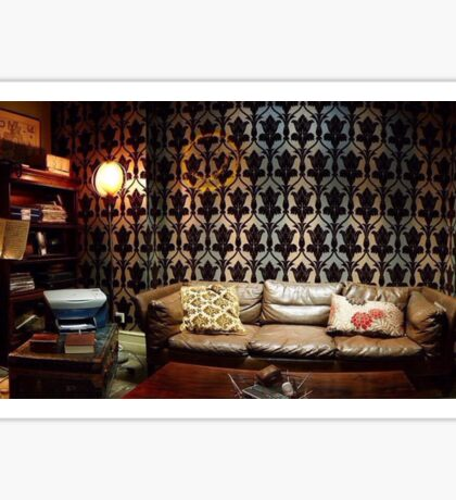 221B Living Room Sticker