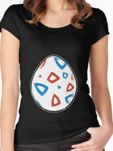 Togepi Egg Design Women's Fitted Scoop T-Shirt