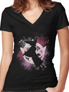 Dancing Summoner Women's Fitted V-Neck T-Shirt