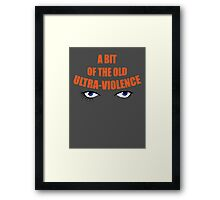 Your Humble Narrator - Variant. Framed Print