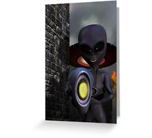 Evil Aliens Greeting Card