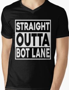 Straight Outta Bot Lane Mens V-Neck T-Shirt