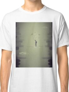 man walking on the rope between the two cities Classic T-Shirt