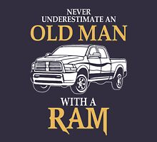 Never underestimate an old man with a ram Unisex T-Shirt