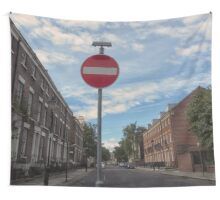 No Entry  Wall Tapestry
