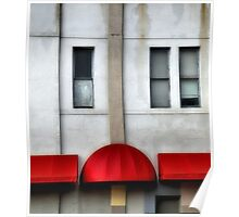 Red Awning Poster