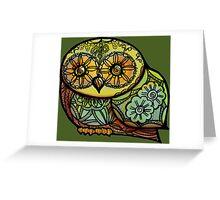 Owl - Tattoo Greeting Card