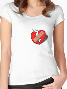 I'M FINE Women's Fitted Scoop T-Shirt