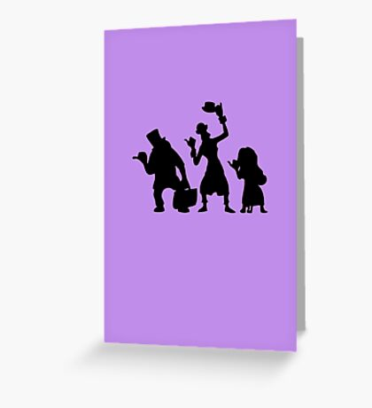 Haunted Mansion Hitchhiking Ghosts Greeting Card