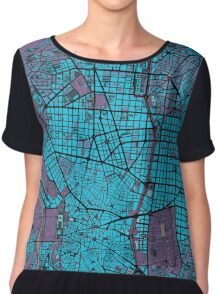 Madrid city map twilight Chiffon Top