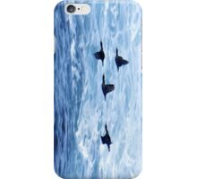 Cormorants  Skimming the Waves off Inishmore iPhone Case/Skin