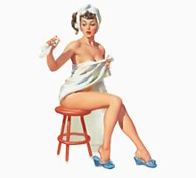 vintage retro pin up girl only towel after shower Unisex T-Shirt