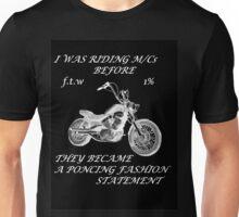 Motorcycle fashion statement W on B Unisex T-Shirt