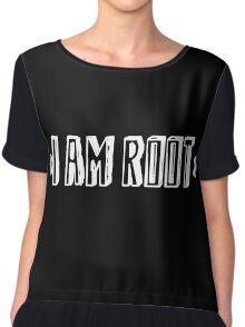 Computer qutoe: I am root Chiffon Top