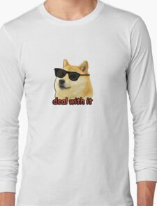 Doge - Deal with it. Long Sleeve T-Shirt