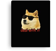 Doge - Deal with it. Canvas Print